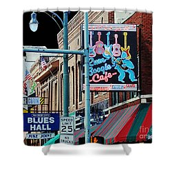 Boogie On Beale St Memphis Tn Shower Curtain