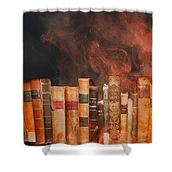 Book Burning Inspired By Fahrenheit 451 Shower Curtain