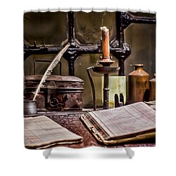 Book Keeper Shower Curtain by Heather Applegate