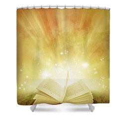 Book Of Dreams Shower Curtain by Les Cunliffe