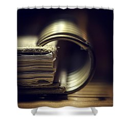 Book Of Secrets Shower Curtain