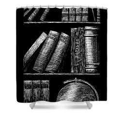 Books On Shelves Shower Curtain