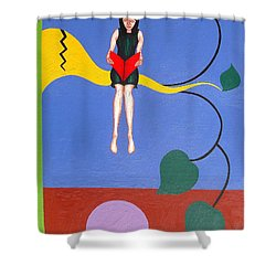 Bookworm Shower Curtain by Patrick J Murphy
