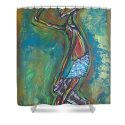 Shower Curtain featuring the painting Boom Boom by Lucy Matta