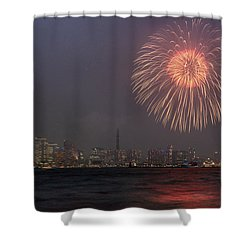 Boom In The Sky Shower Curtain by John Swartz