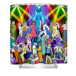 Boomer's Ball Shower Curtain by Linda Mears