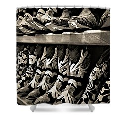 Boot Camp Shower Curtain by Mark David Gerson