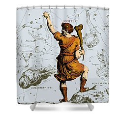 Bootes Constellation, 1687 Shower Curtain by Science Source