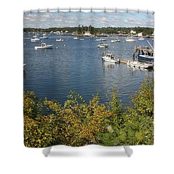 Boothbay Harbor Vista Shower Curtain