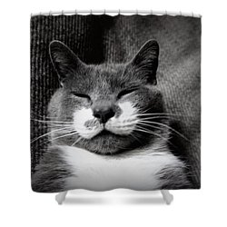 Shower Curtain featuring the photograph Boots by Laurie Perry