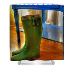 Boots Shower Curtain by Mark Alder