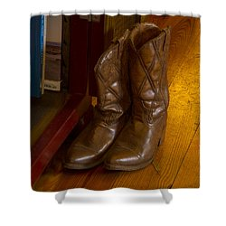Boots Not Made For Walking Shower Curtain by Jean Noren