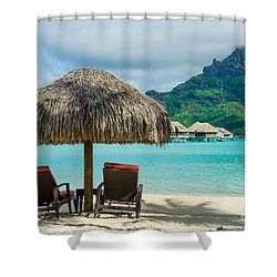 Bora Bora Beach Shower Curtain