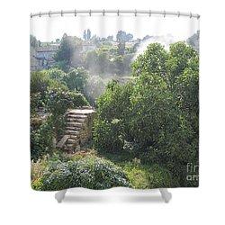 Bordeaux Village Cloud Of Smoke  Shower Curtain
