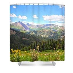 Boreas Pass Summer Shower Curtain by Lanita Williams