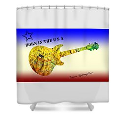Born In The U S A Bruce Springsteen Shower Curtain