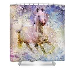 Born To Be Wild Shower Curtain by Mo T
