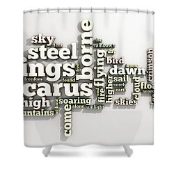 Borne On Wings Of Steel Shower Curtain
