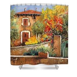 Bosco Giallo Shower Curtain by Guido Borelli
