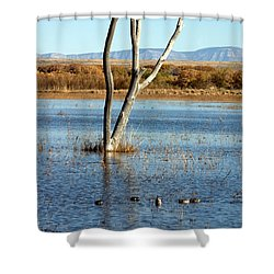 Bosque Del Apache Landscape No. 2 Shower Curtain