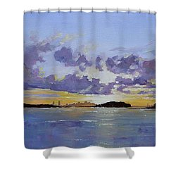 Boston A Glow Shower Curtain