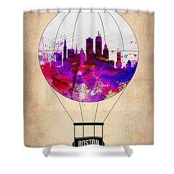 Boston Air Balloon Shower Curtain by Naxart Studio