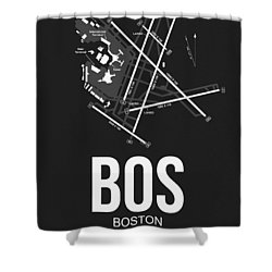 Boston Airport Poster 1 Shower Curtain by Naxart Studio