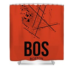 Boston Airport Poster 2 Shower Curtain by Naxart Studio