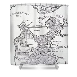 Boston And Bunker Hill 1781 Shower Curtain by American School