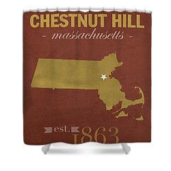 Boston College Eagles Chestnut Hill Massachusetts College Town State Map Poster Series No 020 Shower Curtain by Design Turnpike
