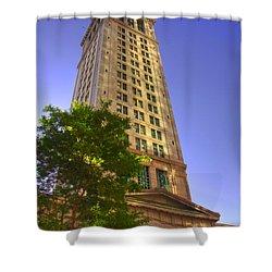 Boston Custom House 3 Shower Curtain by Joann Vitali