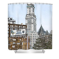 Boston Custom House Tower Shower Curtain