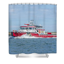 Boston Fire Marine 1 Shower Curtain
