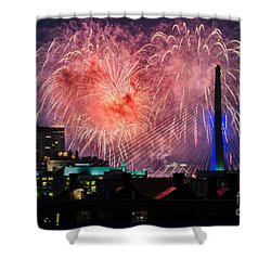 Boston Fireworks 1 Shower Curtain by Mike Ste Marie