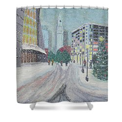 Boston First Snow Shower Curtain