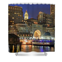 Boston Harbor Party Shower Curtain by Joann Vitali