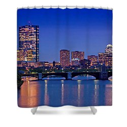 Boston Nights 2 Shower Curtain by Joann Vitali