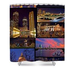 Boston Nights Collage Shower Curtain by Joann Vitali
