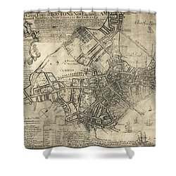 Boston Of British Dominion Map  1769 Shower Curtain by Daniel Hagerman