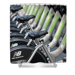 Boston Public Bikes I Shower Curtain by Clarence Holmes