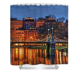 Boston Public Garden Lagoon Shower Curtain