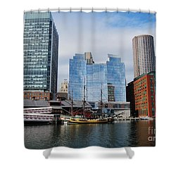 Boston Skyline I Shower Curtain by Barbara Bardzik