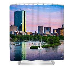 Boston Skyline Shower Curtain by Inge Johnsson