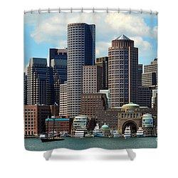 Shower Curtain featuring the photograph Boston Skyline by Randi Grace Nilsberg