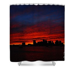 Boston Twilight Shower Curtain
