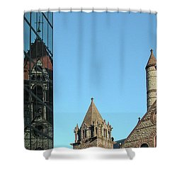 Boston Unity Reflected 2853 Shower Curtain by Guy Whiteley