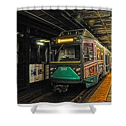Boston's Mbta Green Line Shower Curtain