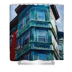 Boston's North End Shower Curtain by Jeff Kolker
