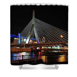 Boston's Zakim-bunker Hill Bridge Shower Curtain by Mitchell R Grosky