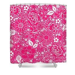 Botanical Beauties Hot Pink Shower Curtain